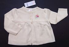 NWT Gymboree Pony Ranch 18-24 Months Ivory Flower Swing Cardigan Sweater