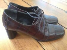 Robert Clergerie Paris France Leather Lace Up Oxfords Dress Shoes Heels 5 35