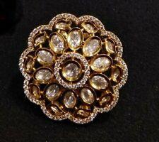 Kundan CZ Ring,Bridal Kundan Statement Ring,Bridal CZKundan Ring,CZ Wedding Ring