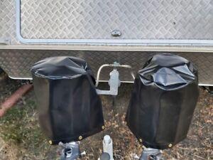Gas Bottle Cover Caravan (Black PVC)