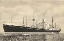 Steamship Holland American Line ALMDYK Old Postcard