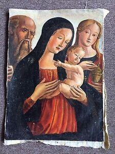 Neroccio De Landi Madonna And Child With St. John The Baptist St. Mary Magdalena