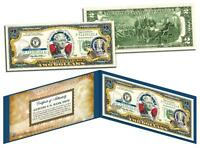 WYOMING Statehood $2 Two-Dollar Colorized US Bill WY State Genuine Legal Tender