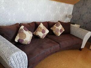 XXL Designer Big Sofa Couch 3 m Kolonialstil Lounge Rattan  Relax Wohnen