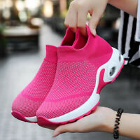 Women's Air Cushion Slip-On Sneakers Casual Walking Sport Running Shoes Gym Size