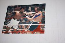 CHUCK WEPNER SIGNED 8X10 COLOR PHOTO BAYONNE BLEEDER RARE POSE VS Muhammad Ali