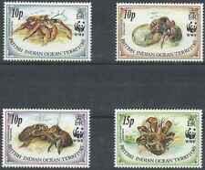 Timbres Faune marine Crabes Océan Indien GB 131/4 ** année 1993 lot 26733