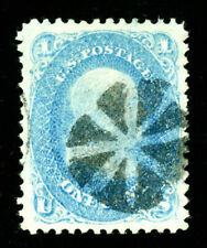 #63, 1c Pale Blue, USED, XF/Superb, well-centered & sound, 2005 PSE (graded 95)