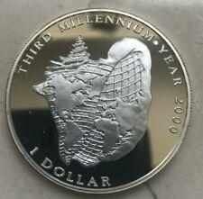 1996 Bahamas 1 One Dollar Silver Proof - Third Millennium