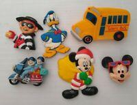Vintage Fridge Plastic Magnet Lot Of 6 - Some Disney Mickey