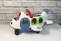 Fisher Price Little People Musical Aeroplane Blue with 4 Figures
