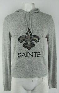 New Orleans Saints NFL Women's Grey Lightweight Pullover Sweatshirt