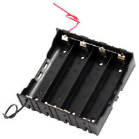 Rectangle In Parallel 2-Wired 4 x 3.7V 18650 Battery Holder Case Black L6 New