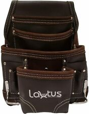 LAUTUS Oil Tanned Leather Tool Pouch Bag | Carpenter, Construction, Framers, Han