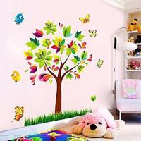 Tree Birds Butterflies Wall Stickers Vinyl Mural Home Decor Wall Decal Nursery