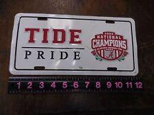 2009 TIDE PRIDE 2009 NATIONAL CHQAMPIONS METAL CAR TAG