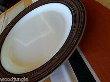 Vintage PYREX TERRA BLACK CHOP PLATE MILK GLASS MID CENTURY MODERN