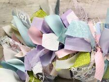 "Custom pink, lavender, green & white handmade 48"" fabric satin & lace garland"