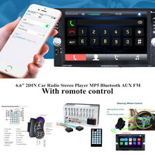 "6.6""2DIN Touch Car SUV Radio Stereo Player MP5 Bluetooth AUX FM Rear-View Camera"