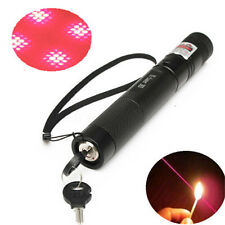 G303 Adjustable Focus 650nm 5mw Red Laser Pointer Pen +Light Star Cap Waterproof