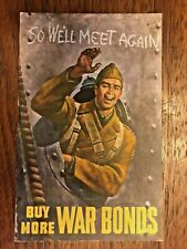 Buy More War Bonds Postcard Army Military U.S. Treasury Department War Savings