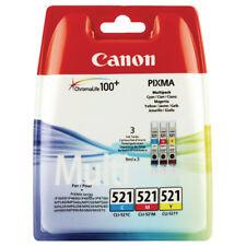 Genuine Canon CLI-521 Multi Pack Cyan,Magenta,Yellow Ink Tanks Pixma CLI521 521