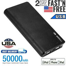 50000mAh USB Backup External Battery Power Bank Pack Charger for Cell Phone