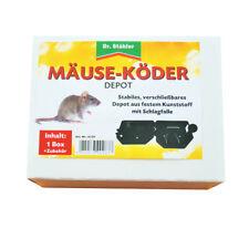 Mäuseköder Depot Maus Köder Mausefalle Mäusefalle verschliessbar mit Schlagfalle