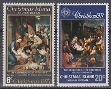 Weihnachtsinsel 1971 ** Mi.37/38 Weihnachten Christmas Gemälde Paintings[sq6651]