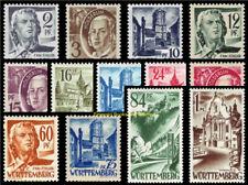 EBS Germany 1947 French Zone Württemberg-Hohenzollern 1-13 MNH**