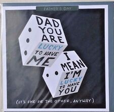 Father's Day Greeting Card - Dice Humour Theme Blank Inside For Your Own Message