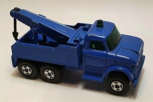 Matchbox Superfast rare Wreck Truck with BLUE body