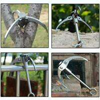 Foldable Grappling Hook Stainless Steel Survival Climbing Tool Stable N6Q0