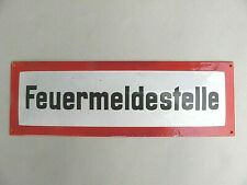 Altes Emaille Schild Feuermeldestelle  Gute Erhaltung  Länge ca. 42 cm
