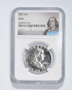 PF67 - 1962 Franklin 90% Silver Half Dollar - NGC *044