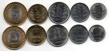 India - set 5 coins 50 Paise 1 2 5 10 Rupees 2011 aUNC Lemberg-Zp