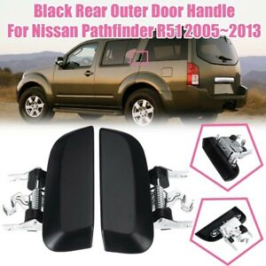 Black Rear Door Outer Handle left / right For Nissan Pathfinder R51 2005 - 2013