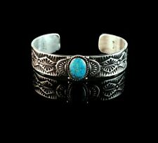 Sterling and Kingman Turquoise Bracelet by Kevin Ramone