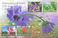 Turkmenistan 2021 spring  flowers  sheet MNH