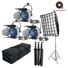 For Film Fresnel Tungsten Spot light 650W*3 Dimmer Built-in+Softbox Camera video
