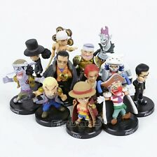 ONE PIECE/ SET 12 FIGURAS 5 CM- LUFFY SANJI SABO SHANKS BUGGY MORIA ENEL NO BOX