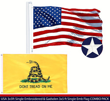 Wholesale Lot | Usa 3x5ft Embroidered & Gadsden Double Sided 3x5 ft Emb Flag