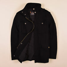 Ben Sherman Herren Jacke Jacket Gr.S Strick Wolle Schwarz 75707