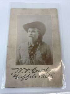 "Native American Indian Old Antique Postcard "" Buffalo Bill"" Ponca City OK"
