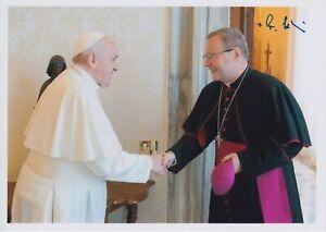Original signiertes Foto Bischof Georg Bätzing Limburg - Papst Franziskus