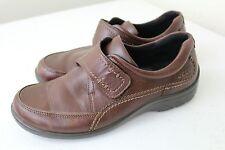 ECCO Damen Wave Munk Mahagoni 14593 Slipper Leder Schuhe EUR 38, US 7 7.5