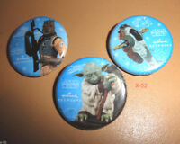 STAR WARS HALLMARK PIN set SDCC Comic Con ESB YODA boba fett's slave-1 BOSSK toy