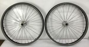 """Pair of 24"""" Sunrims CR20 36 Spoke Wheelchair Wheels w/ Hand rims-NO TIRES/ AXLE"""