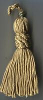 """4"""" LIGHT GOLD CHAINETTE CROWN TASSELS LOT OF 12"""