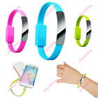 8 Pin/Micro USB To USB Cable Bracelet Charger Data Sync Cord For Samsung iPhone6